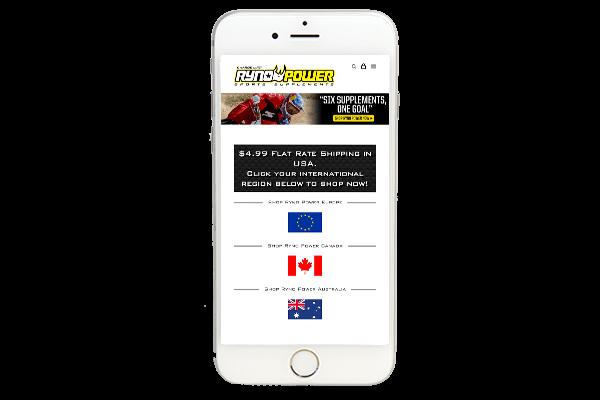 ecommerce website design iphone