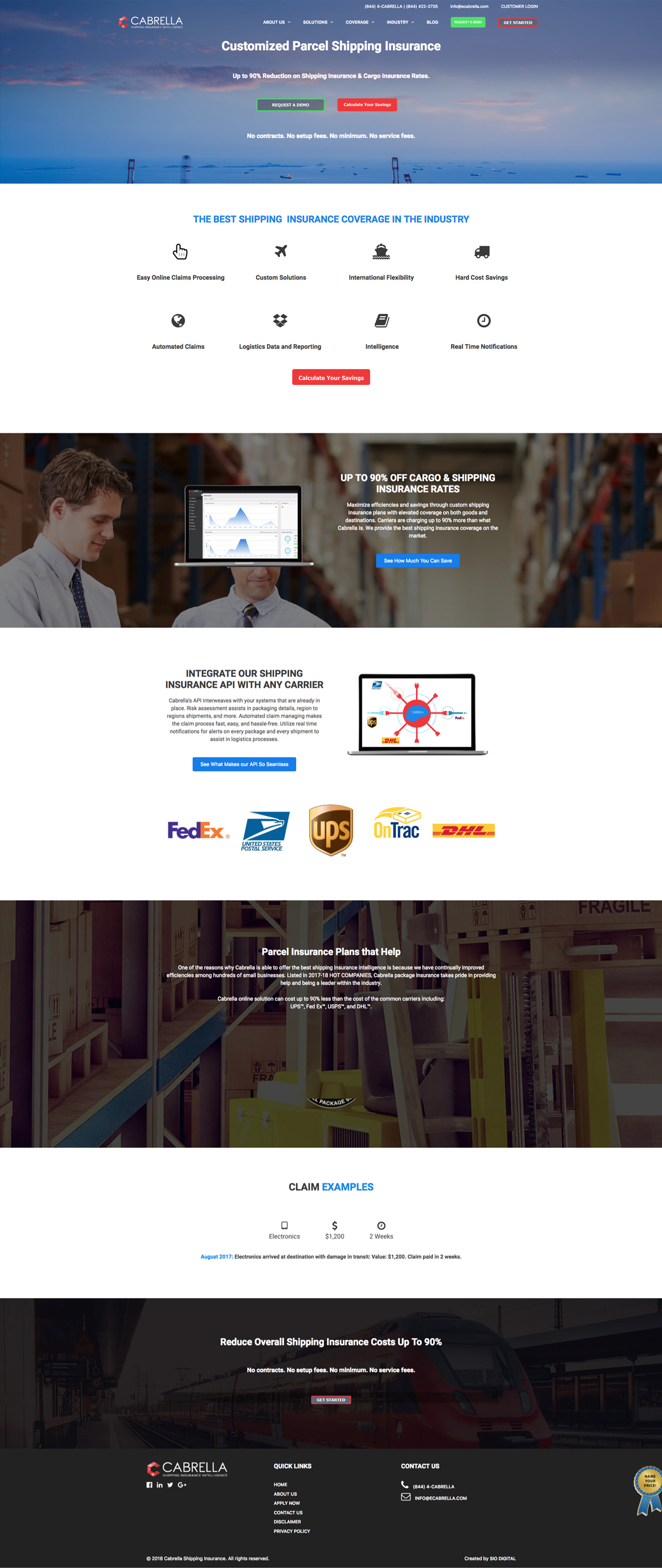insurance web design agency
