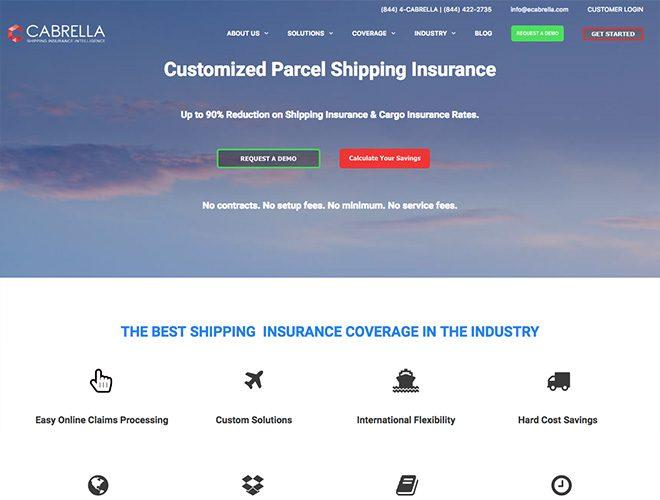 cabrella insurance web design project