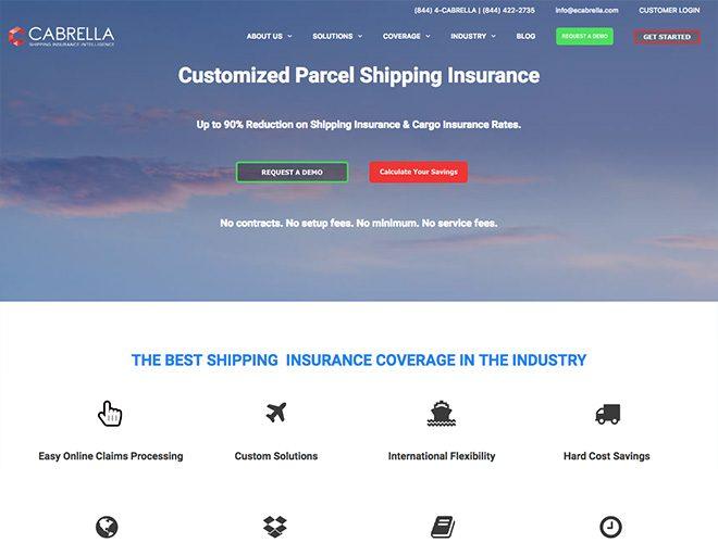 cabrella insurance web design project